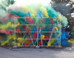 Nappali pirotechnika - színes füst