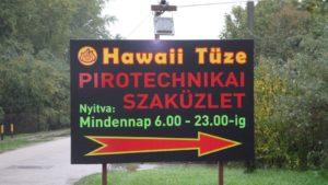 hawaii tüze reklámtábla